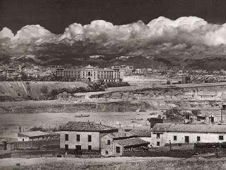 Madrid – Panorámica de la Monumental de las Ventas, al fondo la sierra de Guadarrama - Año 1930