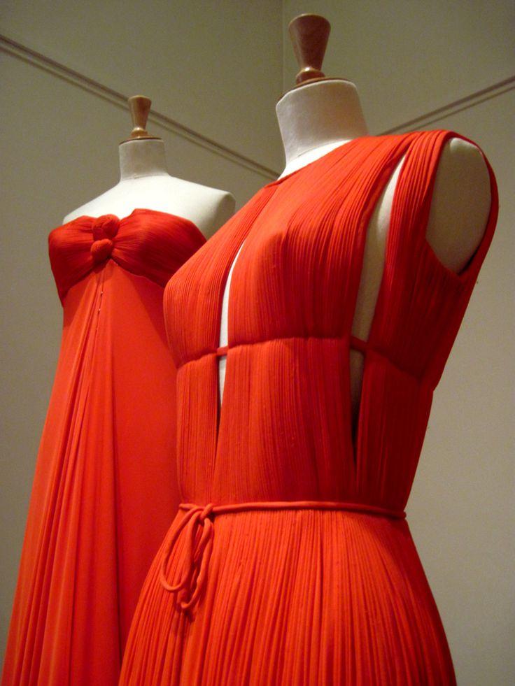 Madame Gres - tangerine draping