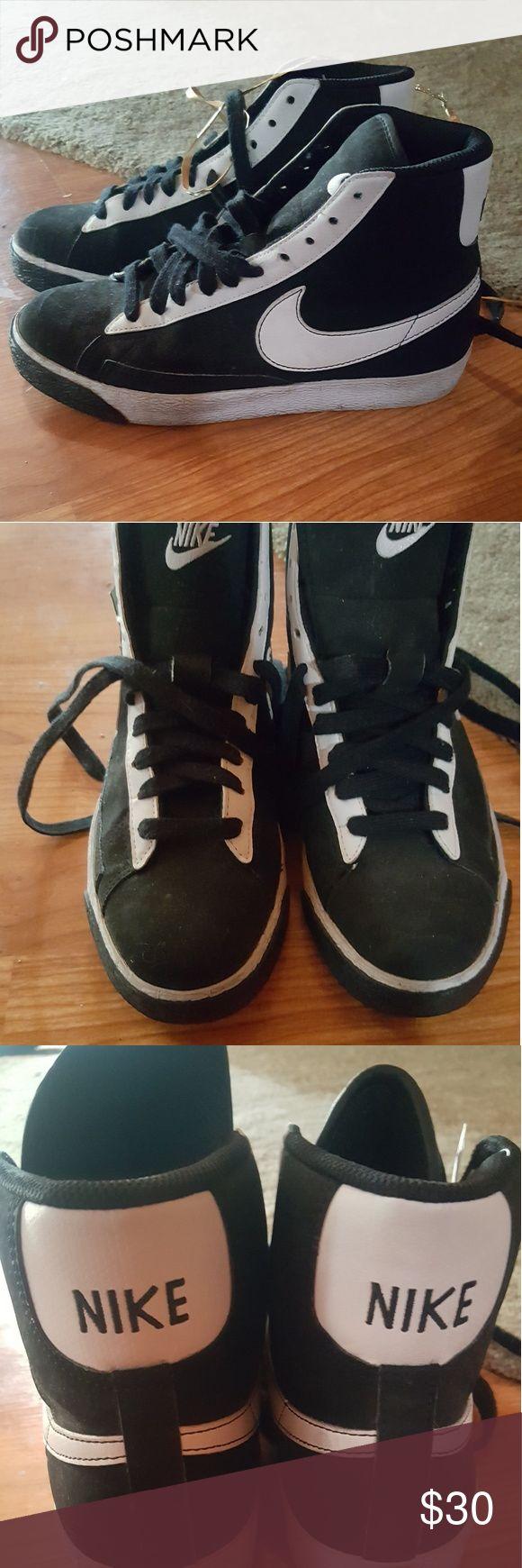 Nike hi-tops Black old school Nike hi-tops. Youth 4.5 / Women's 6 Nike Shoes Athletic Shoes