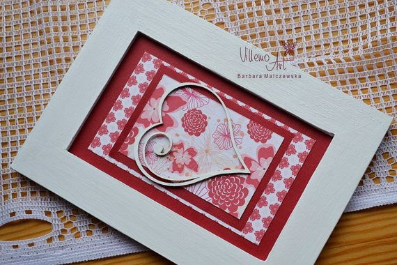 FramedArt   shabby chic Home Decor scrapbooking by villemoart