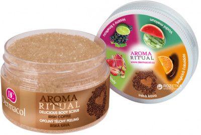 Нежный пилинг для тела Dermacol Delicious Body Scrub Aroma Ritual Ирландский Кофе 200 г (8590031099606)