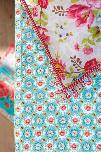 PiP Hoeslaken Blossom Rose Blauw