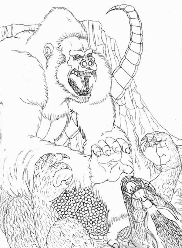 Amazing Fight Godzilla With King Kong Coloring Pages ...
