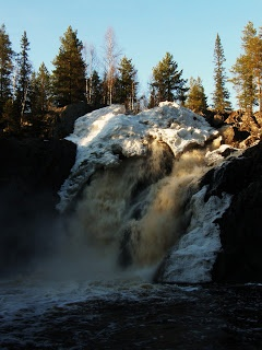Hepoköngäs is the biggest waterfall in Finland, located in Puolanka