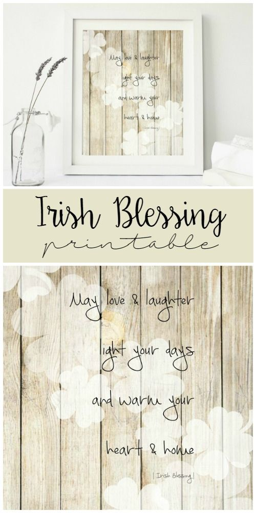 With St. Patrick's Day right around the corner, it's not too late to add this Irish Blessing to your decor. It's neutral tones make it easy to fit anywhere!