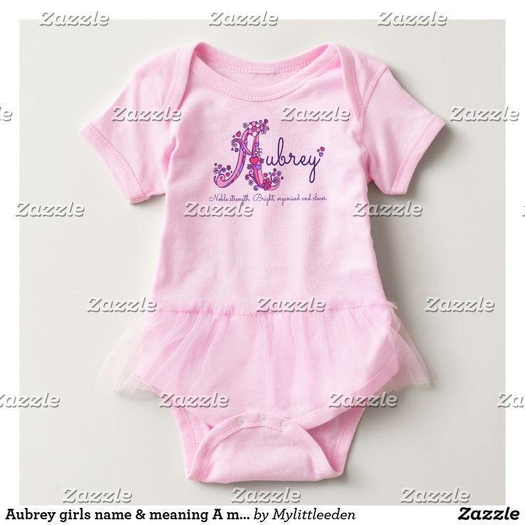 Aubrey girls name & meaning A monogram romper #aubrey #namemeaning #babynaming #babygirl