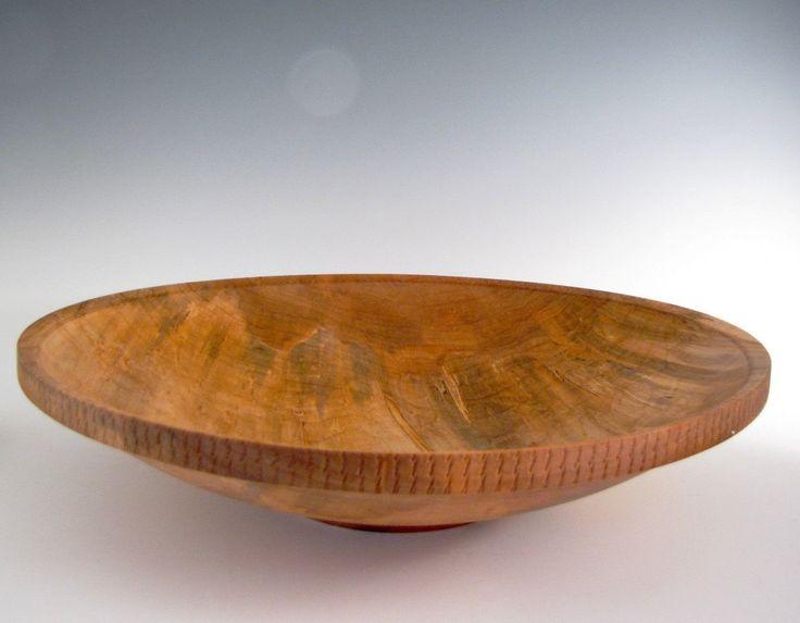 Wood Bowl - Ambrosia Maple - Wood Turned Platter or Bowl - Holiday Gift - Christmas Gift - Wood Turning Bowl - Fruit or Salad Bowl by JLWoodTurning on Etsy