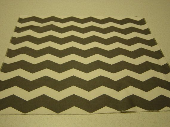 Gray and White Chevron Centerpiece by bourgebride on Etsy, $7.50