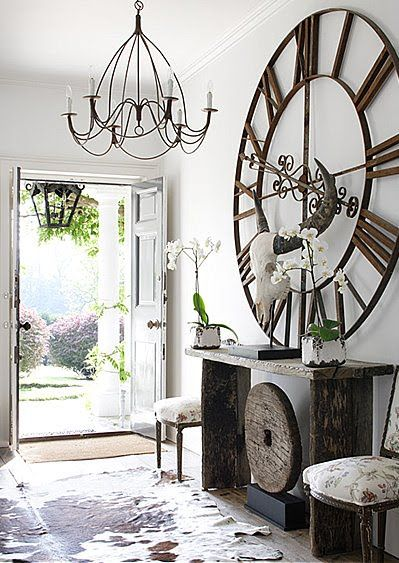 After some convincing, my other half has agreed to an over-sized clock for our new house.  Not quite this large and dramatic, but this one still makes me smile at the thought of my very own over-sized clock.