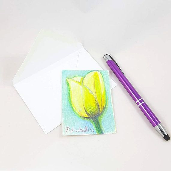 Guarda questo articolo nel mio negozio Etsy https://www.etsy.com/it/listing/479072851/tulipano-gialloaceo