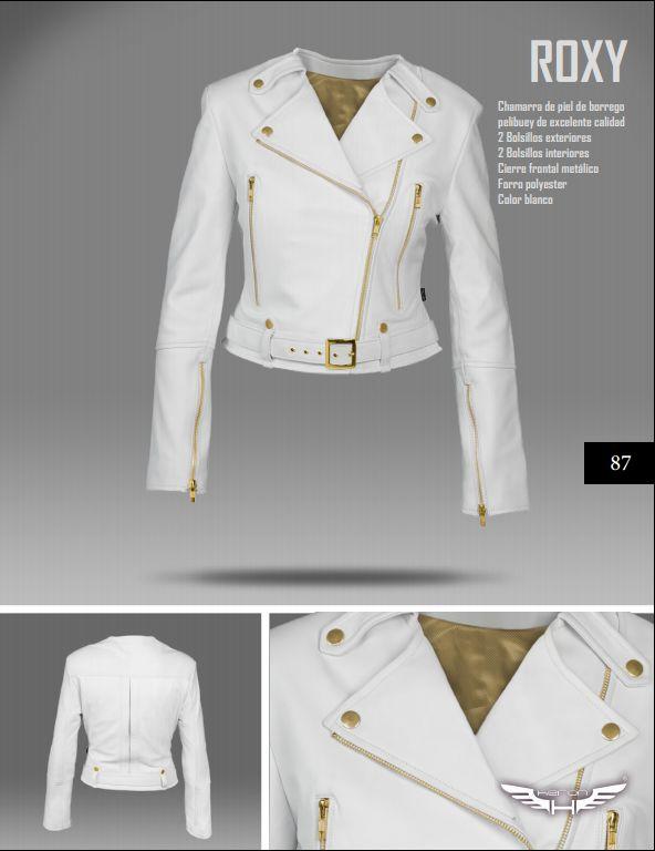 #Chaqueta modelo Roxy blanca. #moda