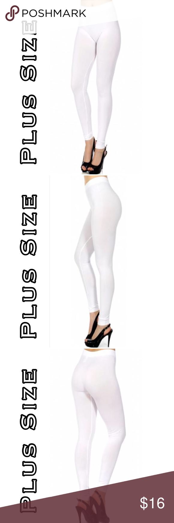 OS Fits 1X-3X White Leggings Solid white seamless leggings. Fits 1X-3x. Beauty Shines On Boutique Pants Leggings