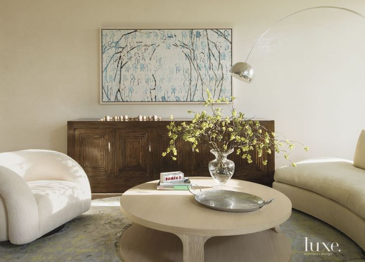 Contemporary White Living Room with Piano | LuxeSource | Luxe Magazine - The Luxury Home Redefined