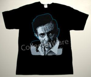 JOHNNY CASH drawing 12 CUSTOM ART UNIQUE T-SHIRT   Each T-shirt is individually hand-painted, a true and unique work of art indeed!  To order this, or design your own custom T-shirt, please contact us at info@collectorware.com, or visit  http://www.collectorware.com/tees-johnny_cash.htm