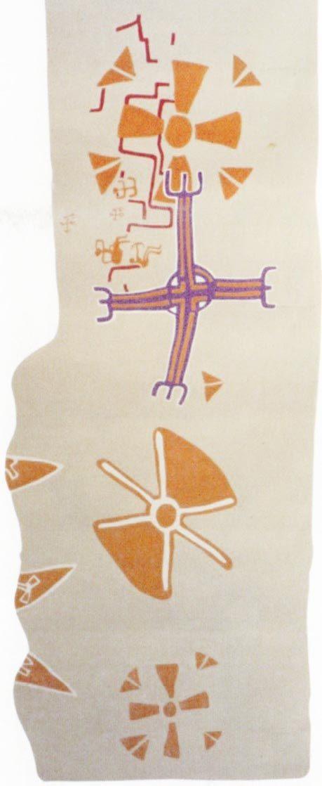 Çatalhöyük, Tapınak VI.A.66 duvar resmi. James Mellaart (Erdinc Bakla archive)