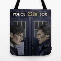 Tote Bag featuring Wholock by Mascmallow