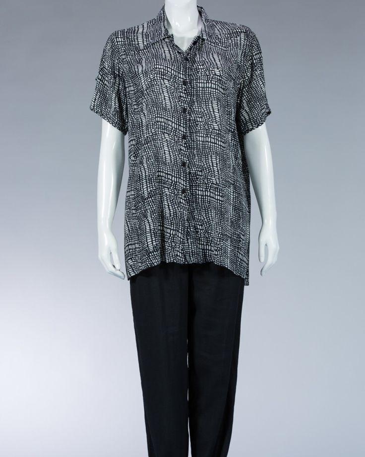 Animale long shirt with printed motif - black #WomenSkirt #Dress #SummerFashion #Animale #WomenWear #WomenFashion #MotifClothes #LightClothes