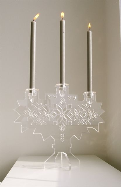 Another candle holder from Camilla Halvorsen, with the 8 star-patterned