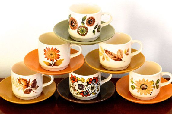 Johnson of Australia cup and saucer set with by ThatRetroPiece, $6.00
