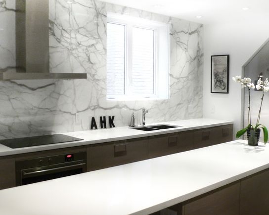 Best Caesarstone And Marble Backsplash Images On Pinterest - Caesarstone blizzard countertop