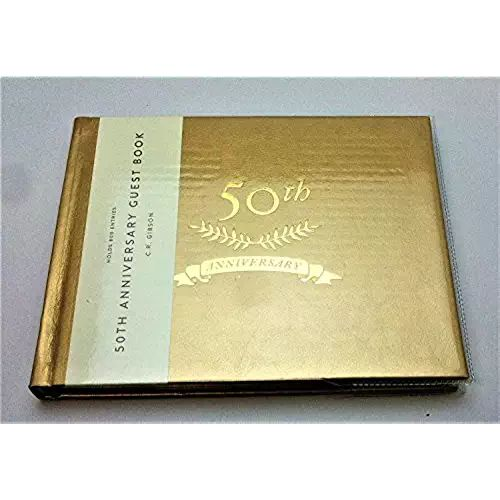 C.R. Gibson WG7-18798 - 50TH Anniversary Golden Guest Book