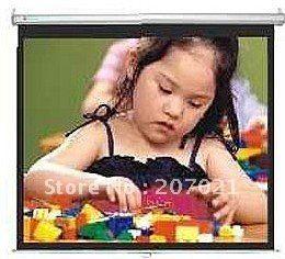 84 дюймов Стекла Бисером 4:3 Руководство проекционный экран Руководство проекционный экран проекционный экран руководство (SGS сертификат СЕ)