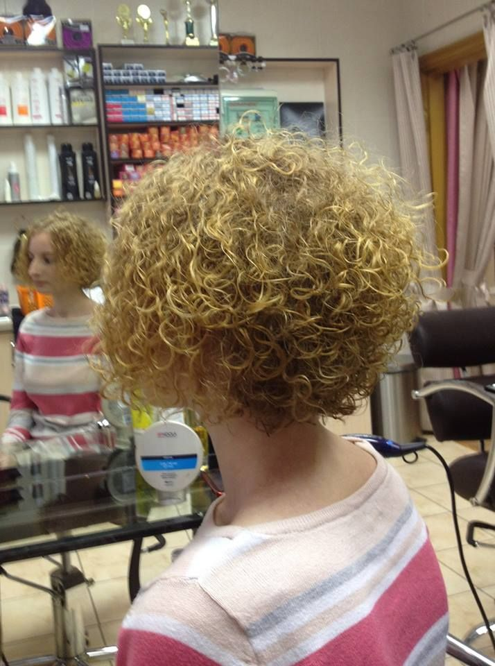 nicely shaped short perm