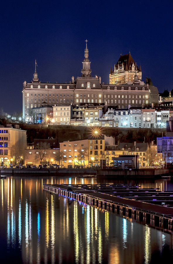 ...Fairmont Le Chateau Frontenac, Quebec, Canada! Awesome! #StandardProducts #Lighting #Light