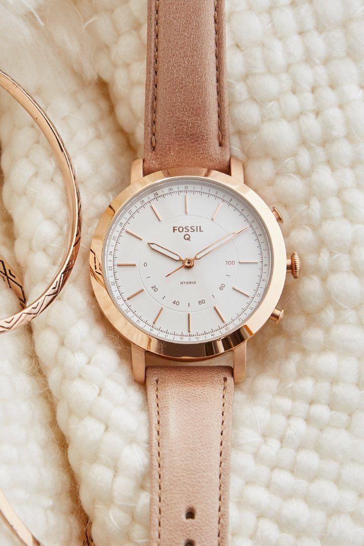 e99e74174 Introducing our newest Q hybrid smartwatch, Q Neely in rose gold and sand  leather.