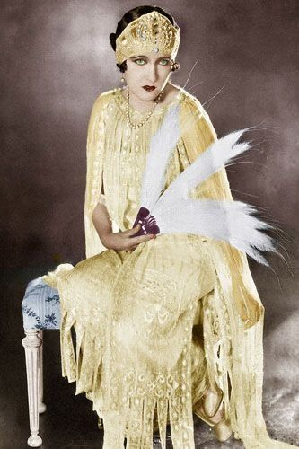 Arguably the '20s biggest star and Hollywood's first true 'diva', Gloria Swanson was probably more famous for her trend-setting haute couture and astronomical studio riders, which included a gold-plated bathtub, than for her acting.