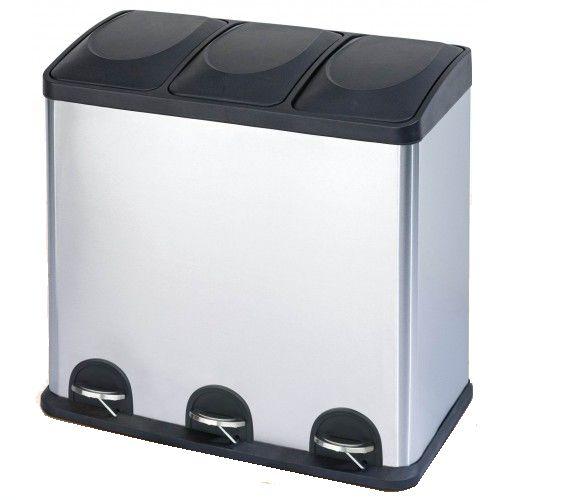 Afvalemmer/ pedaalemmer Steeldesign Trio Maxi 60 liter