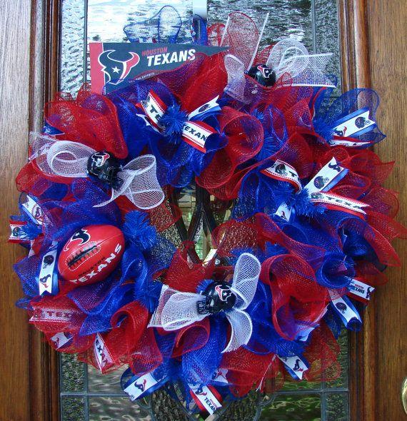 Houston Texans Football Wreath by LadybugsWreaths on Etsy, $70.00