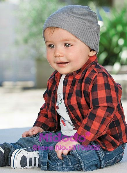 cool little boys clothes | baby boys fashion sets,short sleeve t shirt +shirt with plaid+jean ...