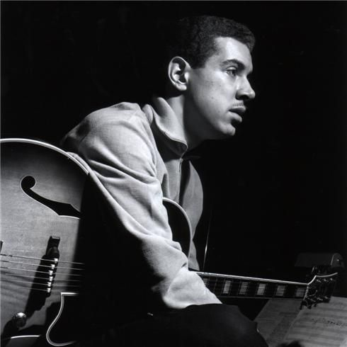 Jazz guitarist Kenny Burrell, the consumate bop sideman, is 81 today…    Here seen during his Midnight Blue session, Englewood Cliffs, NJ, January 8, 1963 - photo Francis Wolff