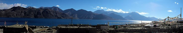 Pangong Tso at Sunrise..... A Panorama