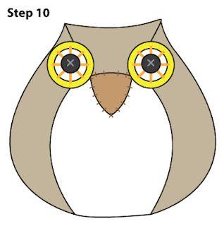 Owl (doorstop) - free pattern