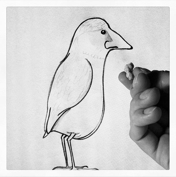 Feeding my nosebird