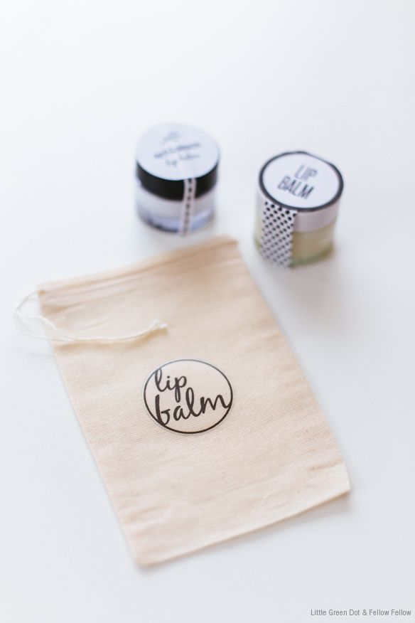 DIY Lip Balm + free labels and tags. #gift