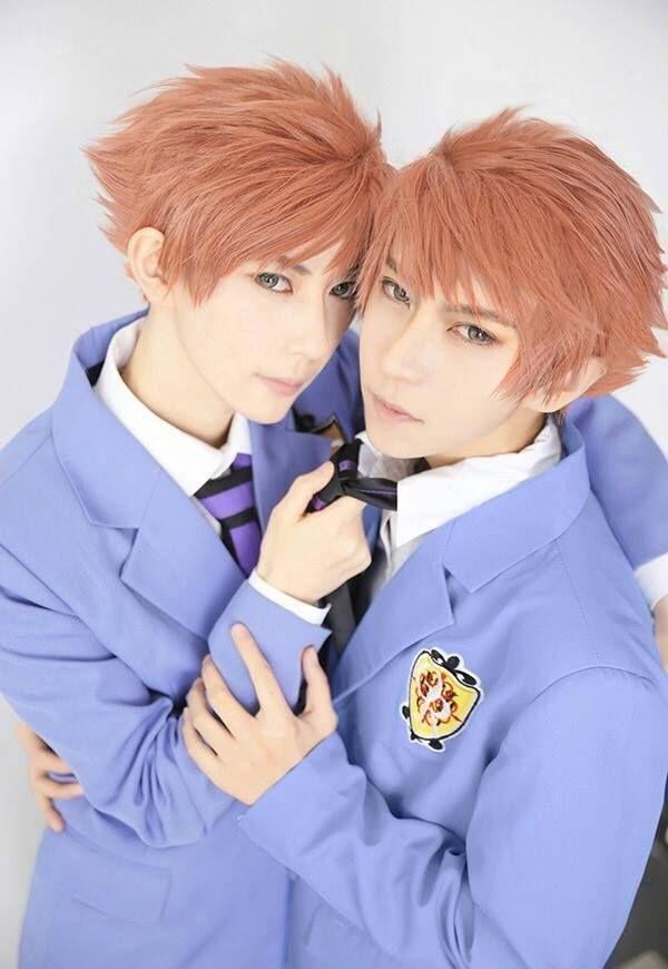 Ouran High School Host Club Hikaru and Kaoru Hitachiin Blue Cosplay Costume