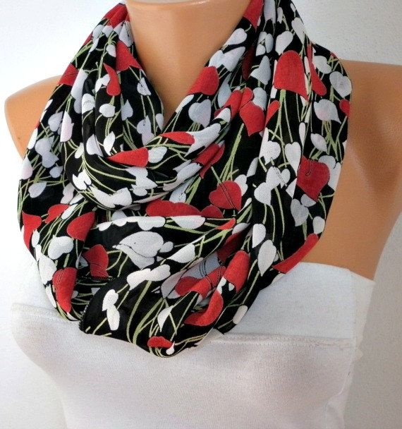 Heart  Infinity Scarf #scarves