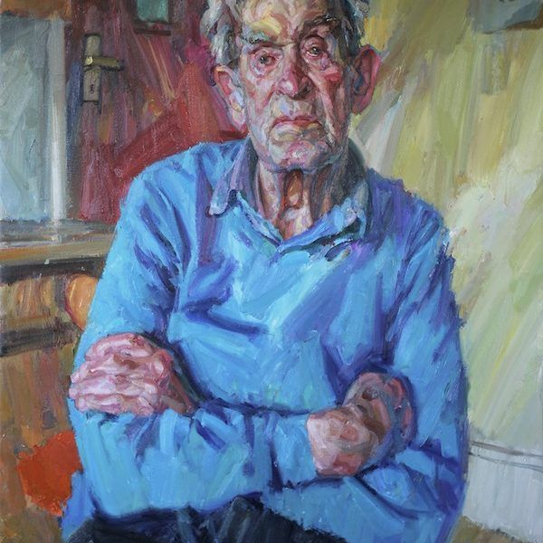 Andrew James 'Portrait of my Father 2012' Oil on Canvas 48 x 36in