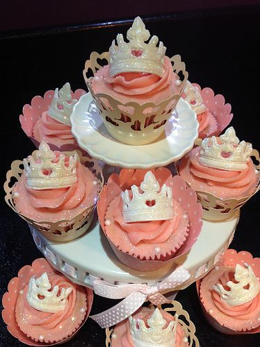 Princess cupcakes-these are perfect for me....