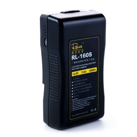 Rolux V-Mount Accu RL-160S 160Wh 148V  De Rolux V-Mount Accu RL-160S is een zeer professionele Lithium Ion accu met een capaciteit van 105Ah en 160Wh.De status van de batterij wordt aangegeven middels 4 LED indicatoren aan de zijkant van de accu. Acculader niet inbegrepen.  Toepassing  De oplaadbare accu is te gebruiken in combinatie met alle elektrische apparaten met V-Mount aansluiting zoals bijvoorbeeld LED lampen en videocamera's.  EUR 275.95  Meer informatie