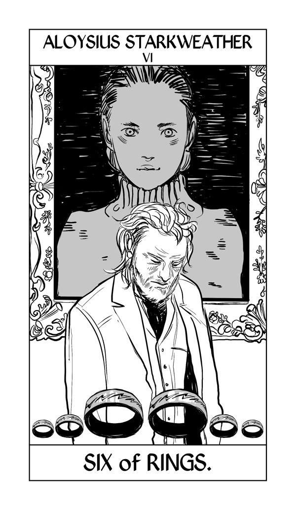 Aloysius Starkweather by Cassandra Jean   Tarot Card - Six of Rings   #TID #shadowhunters