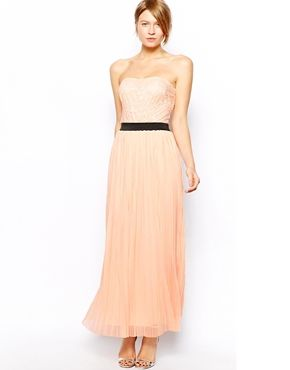 Love+Lace+Bandeau+Maxi+with+Pleat+Skirt Perfect bridesmaid dress!