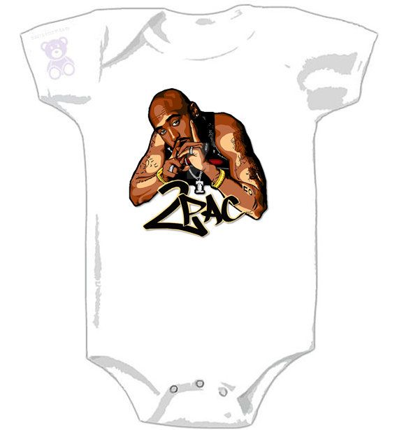 2pac - All Eyez On Me - Graphic Onesie - California Love for Baby - Tupac Shakur by NabbyDooby on Etsy