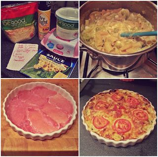 Slimmingworldwithstyle: helors Slimming World Quiche  -using Batchelor's Pasta 'N' Sauce (-free if made up with water).  Used bacon here, but obviously anything else will do. Peppers, mushrooms, tuna etc etc!