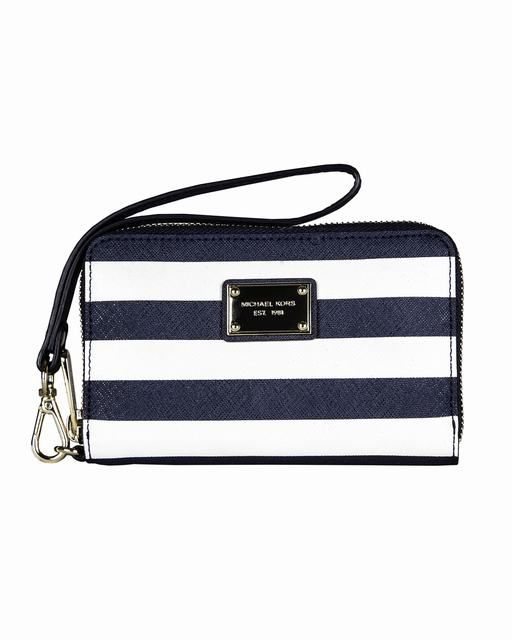 Michael Kors Gestreiften Iphone ® 5 4s Und 4 Zip Wallet Navy  Weiß Saffiano deutschland #fashionhandbags#jewellery #jewellerydesign}