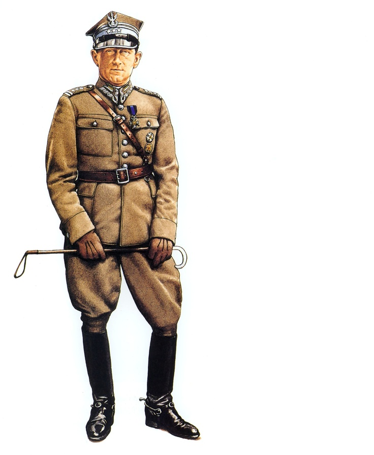 Uniform of Polish Army 3-star general during WW2.