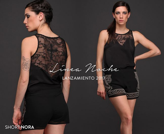 Puro glamour de la mano del Short Nora, una prenda de gasa bordada con canutillos. #Noche #Trendy #EdiciónLimitada
